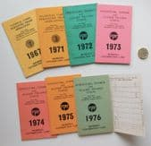 7 member cards Furniture Timber and Allied Trades Union 1960s 1970s FTAT NUFTO